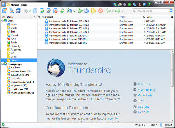 email marketing digital Thunderbird